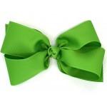 Green (Apple Green) Grosgrain Bow - 7 Inch