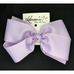 Purple (Lavender) Grosgrain Bow - 7 Inch