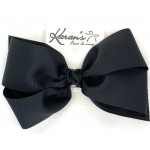 Black Grosgrain Bow - 7 Inch