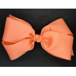 Orange (Cantaloupe) Grosgrain Bow - 7 Inch