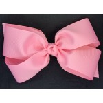 Pink (150 Pink) Grosgrain Bow - 7 Inch