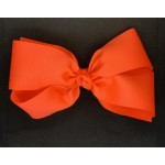 Orange (Neon Orange) Grosgrain Bow - 7 Inch