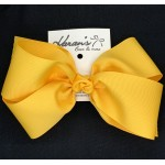 Yellow Gold Grosgrain Bow - 7 Inch