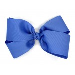 Blue (Capri) Grosgrain Bow - 7 Inch