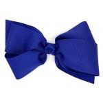Blue (Century Blue) Grosgrain Bow - 7 Inch