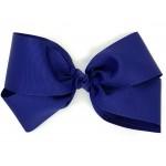 Blue (Light Navy) Grosgrain Bow - 7 Inch
