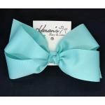 Blue (Aqua) Grosgrain Bow - 7 Inch