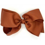 Brown (Rust) Grosgrain Bow - 7 Inch