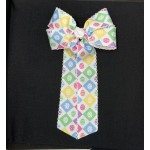 Easter Egg Grosgrain Bow - 5 inch With Tails