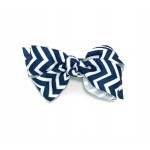 Blue (Dark Navy) Chevron Bow - 3 Inch