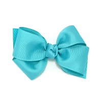Blue (Light Turquoise) Grosgrain Bow - 4 Inch