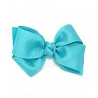 Blue (Light Turquoise) Grosgrain Bow - 4 Inch