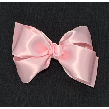 Pink (Light Pink) Satin Bow - 4 Inch