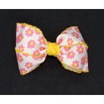 Pink (Hot Pink) Daisy Bow - 4 inch
