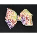 Rainbow Peace Bow - 4 inch