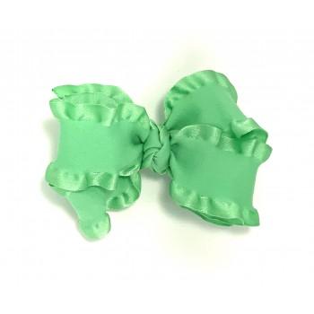 Green (Mint) Double Ruffle Bow - 4 Inch