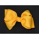Yellow Gold Grosgrain Bow - 4 Inch