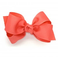 Orange (Watermelon) Grosgrain Bow - 4 Inch