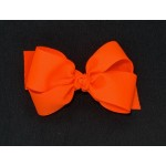 Orange (Neon Orange) Grosgrain Bow - 4 Inch
