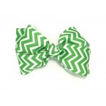 Green (Emerald Green) Chevron Bow - 4 Inch