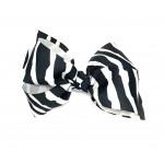 Zebra Bow - 4 inch