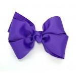 Purple (Delphinium) Grosgrain Bow - 4 Inch