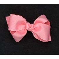 Pink (150 Pink) Grosgrain Bow - 4 Inch
