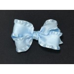 Blue (312 Blue) Double Ruffle Bow- 4 Inch