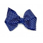 Blue (Century Blue) Swiss Dots Bow - 4 inch