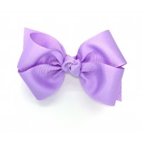 Purple (Lavender) Grosgrain Bow - 4 Inch