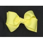 Yellow (Baby Maize) Grosgrain Bow - 4 Inch