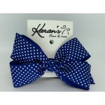 Blue (Century Blue) Swiss Dots Bow - 5 inch