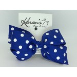 Blue (Century Blue) Polka Dots Bow - 5 inch