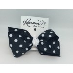 Black Polka Dots Bow - 5 inch
