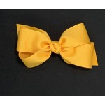 Yellow Gold Grosgrain Bow - 5 Inch