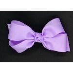 Purple (Lavender) Grosgrain Bow - 5 Inch