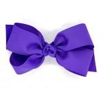 Purple (Delphinium) Grosgrain Bow - 5 Inch
