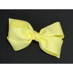 Yellow (Baby Maize) Grosgrain Bow - 5 Inch