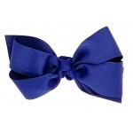 Blue (Light Navy) Grosgrain Bow - 5 Inch