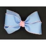 Blue (312 Blue) / 150 Pink Pico Stitch Bow - 5 Inch