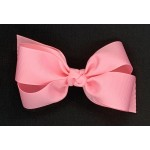 Pink (150 Pink) Grosgrain Bow - 5 Inch