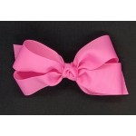 Pink (Pixie Pink) Grosgrain Bow - 5 Inch