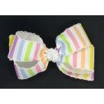 Pastel Stripes Bow - 5 inch
