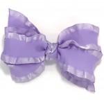Purple (Lavender) Double Ruffle Bow - 5 Inch