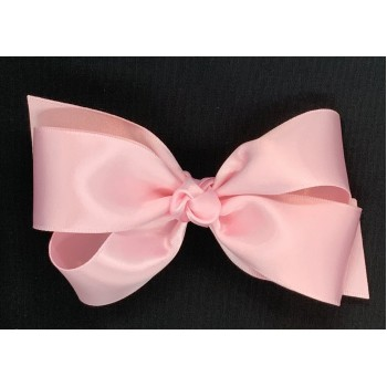 Pink (Light Pink) Satin Bow - 5 Inch