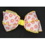 Pink (Hot Pink) Daisy Bow - 5 inch