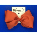 Tomato Red Grosgrain Bow - 6 Inch