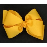 Yellow Gold Grosgrain Bow - 6 Inch