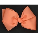 Orange (Cantaloupe) Grosgrain Bow - 6 Inch