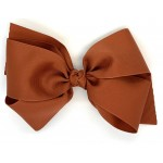 Brown (Rust) Grosgrain Bow - 6 Inch